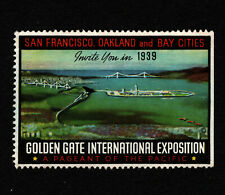 Opc 1939 Golden Gate International Exposition Poster Stamp Mng