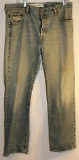 Men's DIESEL Service Spa Button Fly Jeans Size 38 x 32 Vintage Distressed