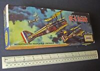 1960s Aurora Canada 1:48 Scale SE-5A Scout Fighter Plane WW1. Boxed Kit.