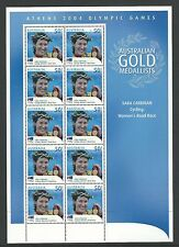 2004 Athens Olympics Women's Cycling  Mini Sheet  Complete MUH/MNH as Issued