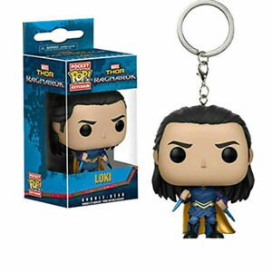 Loki Marvel Avengers Legends Funko Pop Pocket Keychain Figure Pendant Kids Toys