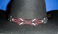 Western Equestrian Decor Cowboy/Cowgirl Arrow Beaded HAT BAND W/2 Tassels