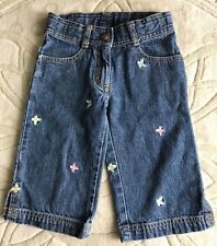Gymboree Palm Springs Vintage Vguc 4 Blue jean capri bottoms Butterflies !