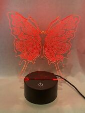 Butterfly 3D Optical Illusion LED Light -7 color change touch button Great Gift!