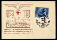WW2 WWII Germany 3rd Reich German Commemorative Card Sonthofen Exhibition 1942