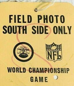 1967 SUPER BOWL I Pass Ticket Green Bay Packers Top K.C. Bart Star MVP/AFL V NFL