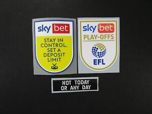2020 2021 EFL SKY BET CHAMPIONSHIP PLAY OFF GAMBLE AWARE AGAINST RACISM PATCHES