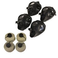 4 Adult Survival Gas Masks w/ 40mm NBC Filters