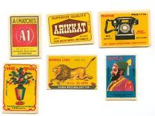 6 Different Original Color Matchbox Labels
