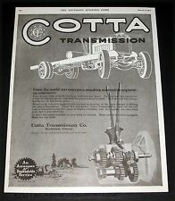 1919 OLD MAGAZINE PRINT AD, COTTA TRANSMISSIONS, FOR TRUCKS AND TRACTORS, ART!