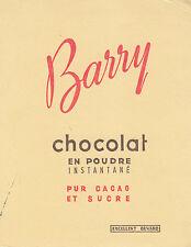 Buvard Vintage  Chocolat en Poudre Barry