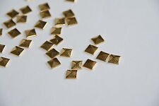 100pcs 10mm Gold Flat Back Studs Hotfix  Iron On Metal FlatBack Glue iphone Case