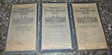 3 Weekly Premium Receipt Book Metropolitan Life Insurance Company 1932 - 1941