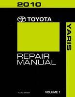 2010 Toyota YARIS  Shop Service Repair Manual Volume 1 Only