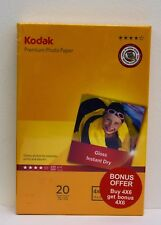 "2 x 20 Sheets Kodak Gloss 240gsm 4x6"" Photo Paper (2 for 1) 40 sheets in total!!"