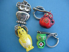 Porte clés - Keychain - Portachiavi - Oiseau Bird- Lot 4 PC Chouette Hibou - OWL