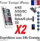 VITRE FILM DE PROTECTION EN VERRE TREMPE D'ÉCRAN INCASSABLE POUR iPhone !!