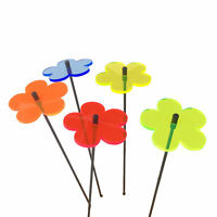 SunCatcher Set of 5: Blossom colourful fluorescent garden ornament stake light