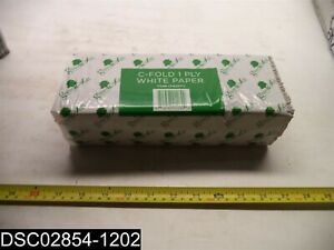 QTY=1 Box X 2,400(12 X 200) Green Soft CFW20012 C Fold 1 Ply White Paper Towels