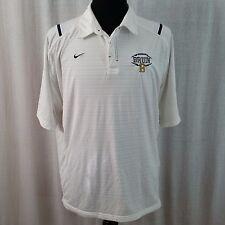 UCLA Bruins Nike Team NCAA Football Polo Shirt White Blue XL College SC Dry Fit