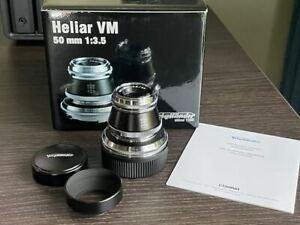Voigtlander Heliar 50mm 3.5 VM Boxed MINT