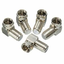 5pcs 90° Right Angle F Male To F Female Connector Adapter Coaxial Cable RG6 RG59