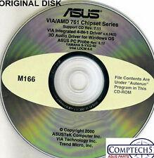 ASUS GENUINE VINTAGE ORIGINAL DISK FOR CUV4X Motherboard Drivers Disk M166