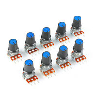9pcs 15mm  Linear Potentiometer Assortment Shaft 1K 2K 5K 10K 20K 100K 500K Hot