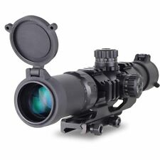 Rifle Scope Recon Monocular Tactical 1.5-4X30 Tri-illuminated Mil-dot Sight