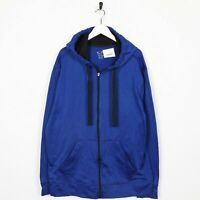 Vintage C9 By CHAMPION Small Logo Zip Up Polyester Hoodie Sweatshirt Blue | XL