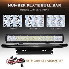 20inch LED Light Bar Combo+Number Plate Frame Mount Bracket License +Wiring Kit