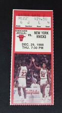 Chicago Bulls 12-29-1988 vs. New York knicks Ticket Stub Michael Jordan 37 pts