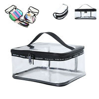 Clear PVC Travel Zipper Wash Bag Holder Pouch Bag Cosmetic Makeup Portable