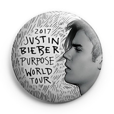 "Justin Bieber - Purpose Tour 2017 - 25mm (1"") Pin Button Badge - Concert"