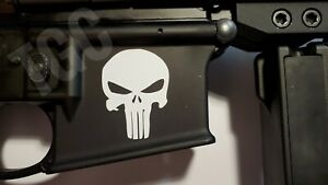 (3) Punisher, Vinyl Decal, AR-15 Lower Magwell Tactical Sticker, 5.56 Mag Skins