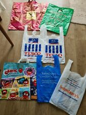 More details for vintage plastic carrier bags tesco/sainsbury's/marks and spencer