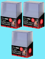 30 Ultra Pro 3x4 130PT SUPER THICK TOPLOADERS NEW Standard Size Card Sleeves