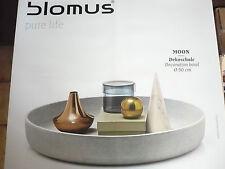 """BLOMUS Dekoschale """"Moon"""" 65446 mittel  D 50 cm  H  8,5 cm Geschenk TOP"""