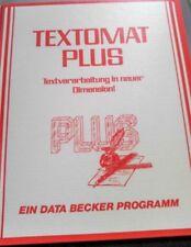 Textomat Plus (Data Becker) c64 disquete (disquete + manual) 100% ok