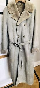 Vintage Mens Morlands Sheepskin Full Length Coat