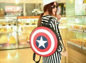 Women's Unisex Avengers Captain America Shield Backpack Student Book School Bag