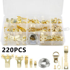 220 Pcs Picture Wall Hangers Painting Hanging Kit Heavy Photo Frame Hook Usa