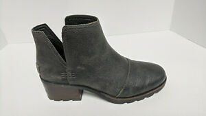 Sorel Cate Cut Out Ankle Booties, Grey, Women's 8 M