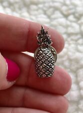 Pineapple Pin Vintage Silver Tone