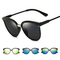 Vintage Women's Mirror Designer Flat Lens Sunglasses Eye Glasses Eyewear UV400
