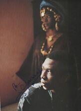 Youssou N`Dour Autogramm signed A4 Magazinbild