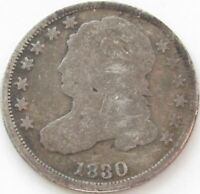1830 Capped Bust Silver Dime in a SAFLIP® - Good-