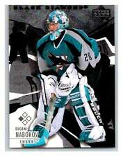 (HCW) 2003-04 Black Diamond #78 Evgeni Nabokov NHL Mint Sharks UD