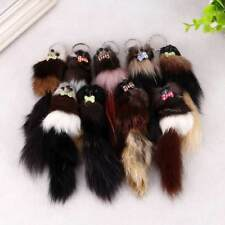 1PC Fox Tail Keychain Key Chain Fur Ball Pom Plush Bag Ornaments Car key Ring
