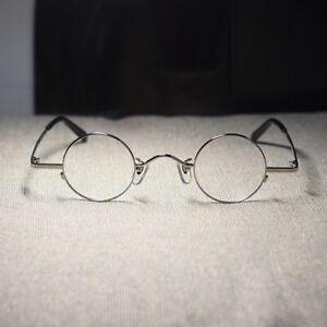 Vintage Round John Lennon eyeglasses metal silver rx optical glasses samll lens